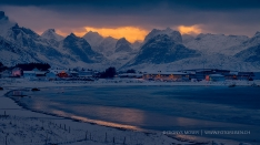Lofoten - Last Glow through the clouds