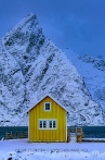 The yellow Rorbu in Lofoten