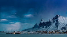 Weather change in Lofoten