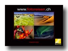 Broschüre Fotoreisen 2009