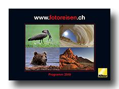 Broschüre Fotoreisen 2010