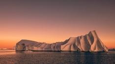 Sonnenuntergang im Scoresby Sund