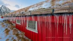 Es kann kalt sein auf den Lofoten