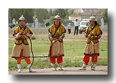 Bogenschützen am Naadaam