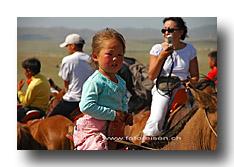 Kind auf dem Pferd
