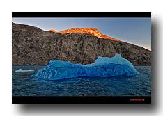 Blauer Eisberg in Südgrönland