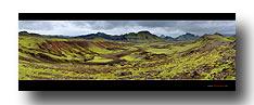 Panorama Icelands Landschaft im Hochland